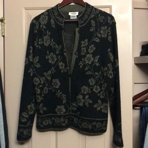 Talbots Floral print sweater
